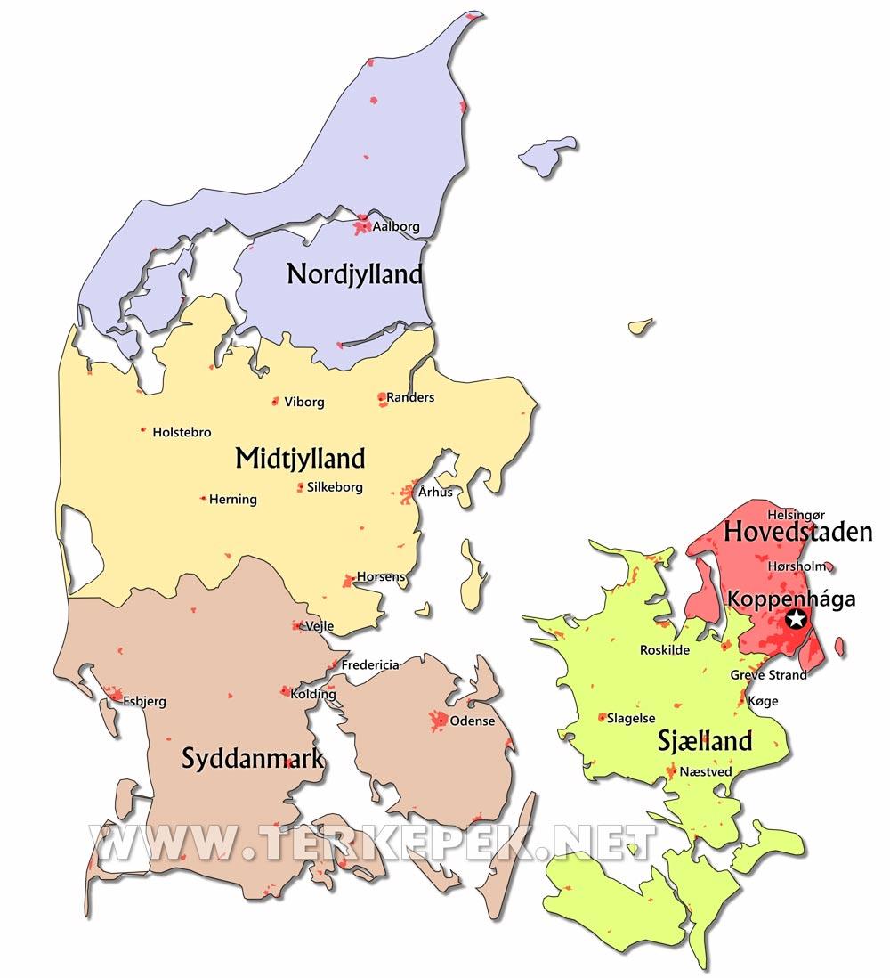 dánia térkép Dánia térképek dánia térkép